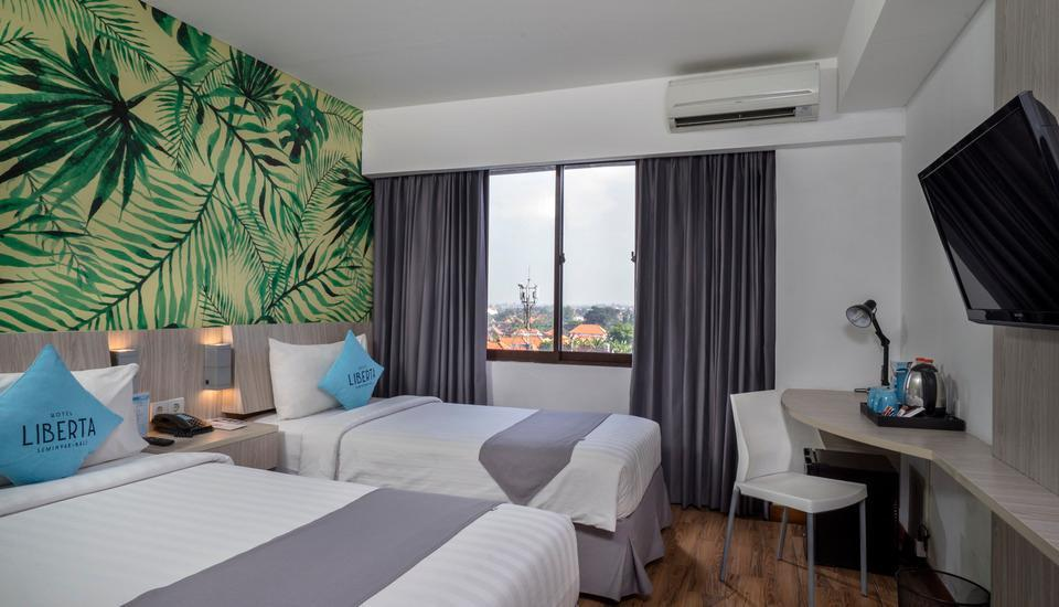 Liberta Seminyak Hotel - Standard Double or Twin Room Only Regular Plan