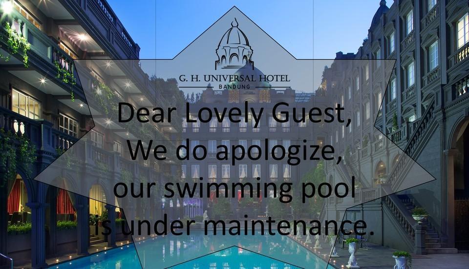 GH Universal Hotel Bandung - Kami mohon maaf, kolam renang kami sedang dalam perbaikan
