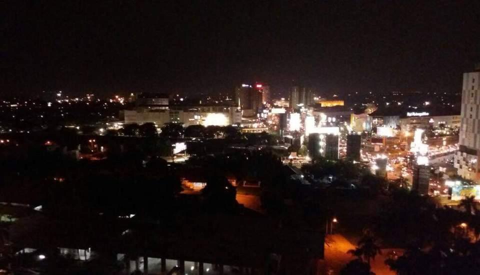 Marzeta Hotel Apartment Bekasi - pemandangan menghadap utara kota (5 besar mall)