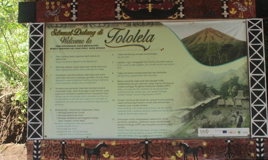 Homestay Tololela Flores - Papan informasi wisata
