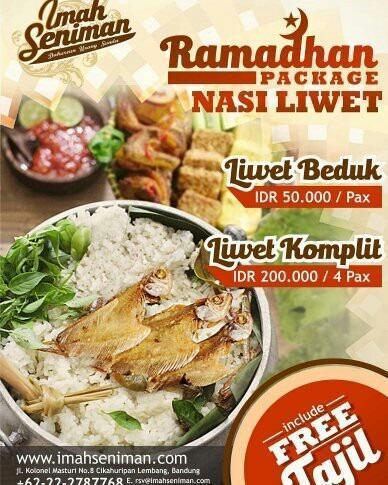 Imah Seniman Bandung - Nasi liwet