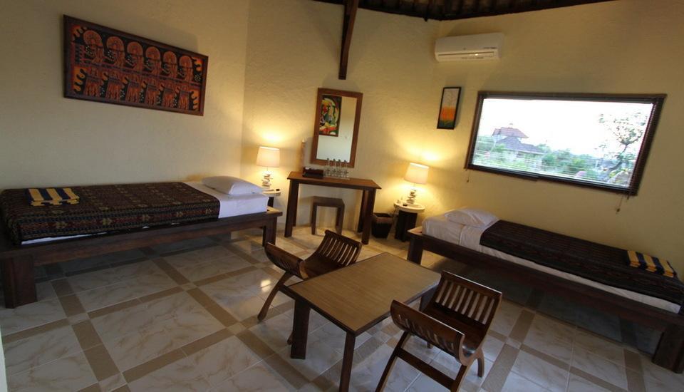 Hotel Uyah Amed - Pemandangan laut laut Bungalow Keluarga maks 4 orang