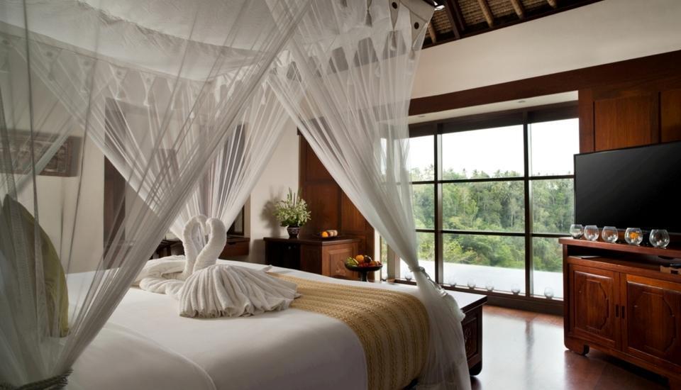 Hanging Gardens Ubud - Panoramic villa dengan kolam renang