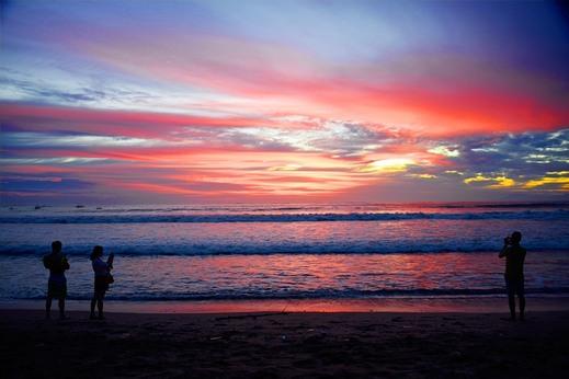 Palm Garden Kuta Bali - Sunset at Kuta Beach