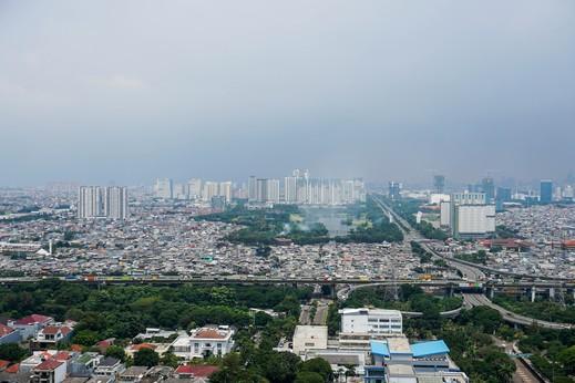 Modern Studio Ancol Mansion Town Home Apartment By Travelio Jakarta - Pemandangan kota