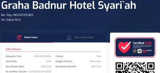Graha Badnur Hotel Syari'ah Pekanbaru - CHSE