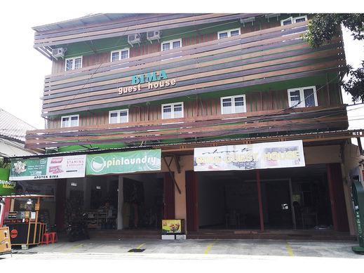 Bima Guest House Malang - Tampak depan bangunan