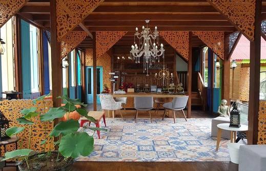Bleu Verde hotel Turtle Point Beach Lombok - Lobby