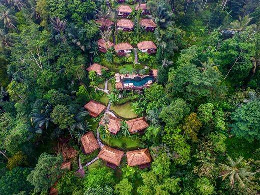 Nandini Jungle Resort Bali - Aerial View