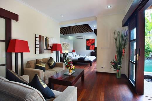 Aleesha Villas Bali - Ruang Tamu - One Bedroom Private Pool Villa
