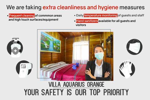 Villa Aquarius Orange Puncak - kebersihan