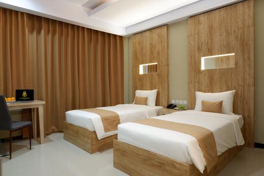 Azizah Syariah Hotel & Convention Kendari Kendari - Deluxe Twin bed