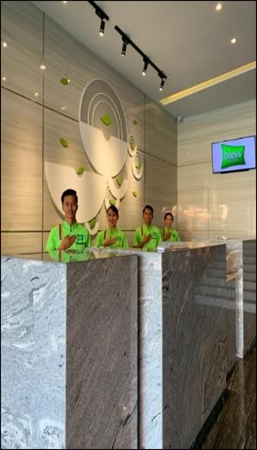Bless Hotels Sintang - reception