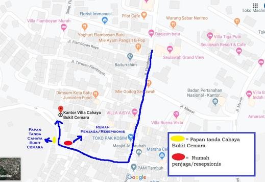 Cahaya Bukit Cemara Malang - Peta