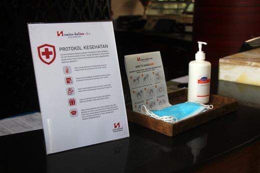 Swiss - Belinn SKA Pekanbaru - Ketersediaan masker dan handsanitizer di Lobby dan area lain