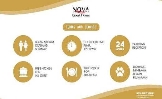 Nova Guest House Syariah Malang - Syarat dan ketentuan
