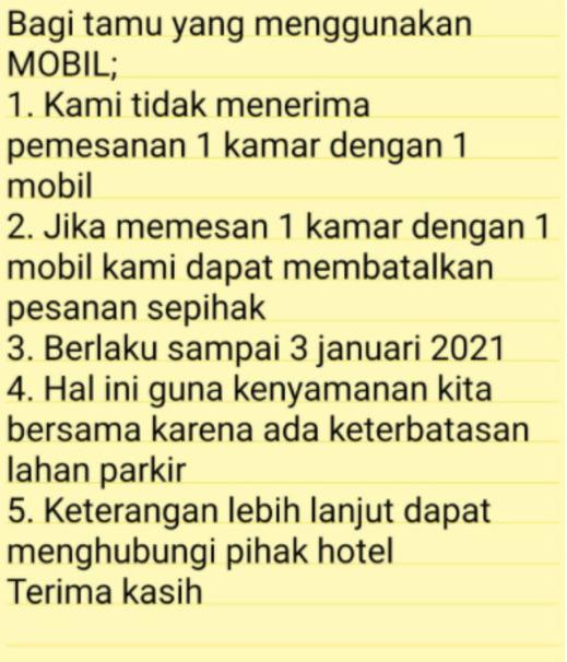 Hello Guest House Syariah Bukittinggi - Caution