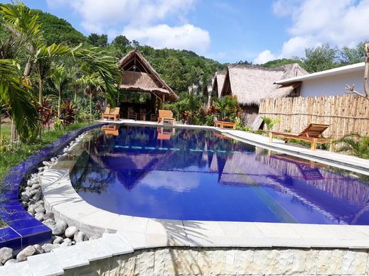 Palm Green Homestay Lombok - pool