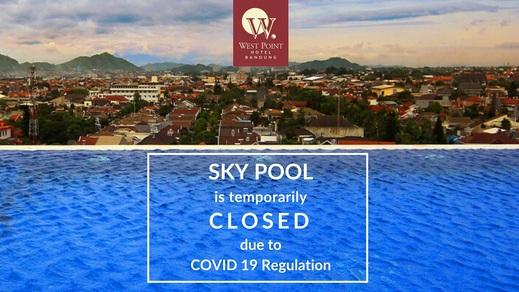 West Point Hotel Bandung - Kolam renang di tutup dikarenakan prosedur Covid-19
