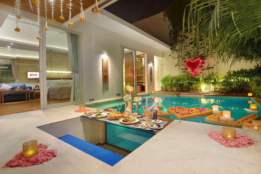 Sana Vie Villa Bali - Romantic Candle Light Dinner