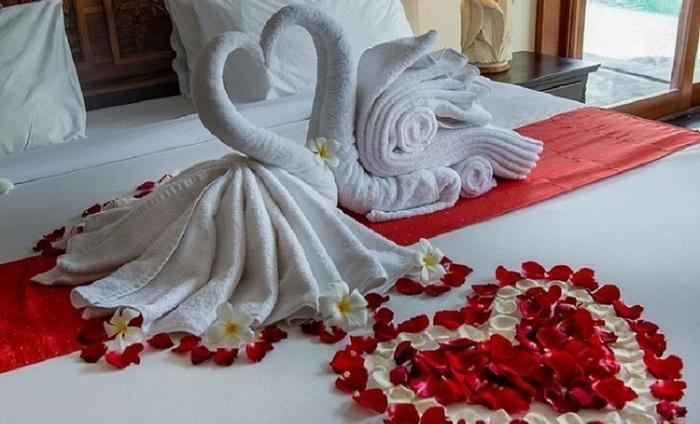 The Payogan Ubud - Dekorasi Kamar Pengantin dalam kamar