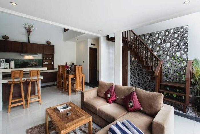 Delu Villas and Suite Bali - Ruang tamu di Villa 2 kamar tidur