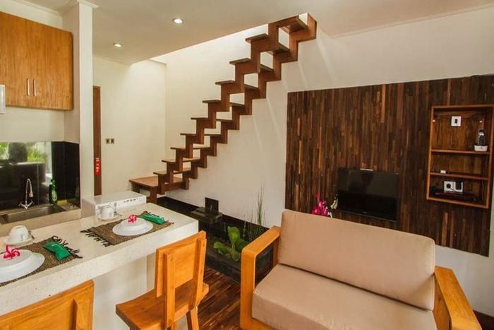 Delu Villas and Suite Bali - Ruang tamu di Villa 1 kamar tidur