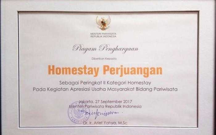 Homestay Perjuangan Padang - achievment