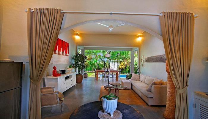 The Lodek Villas Bali - Ruang tamu
