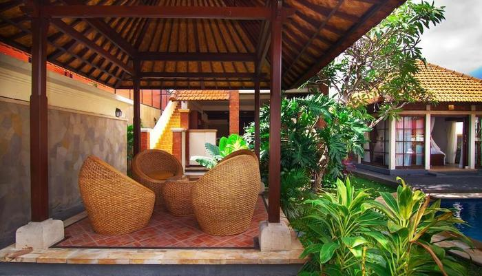 The Awan Villas Balli - balkon