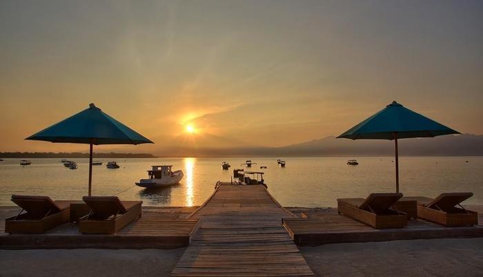 Hotel Villa Ombak Lombok - Matahari terbit