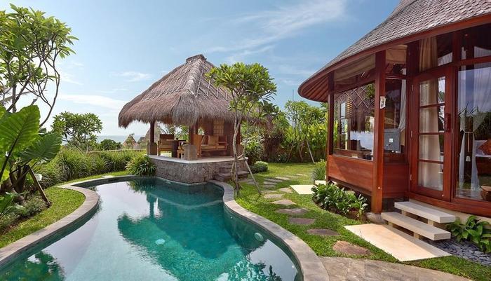 Waka Gangga Resorts Bali - Pool Ocean View Vilva