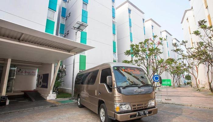 De Green Inn @aeropolis Tangerang - gedung & shuttle service