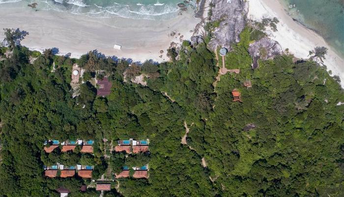Arumdalu Private Resort Belitung - Aerial View