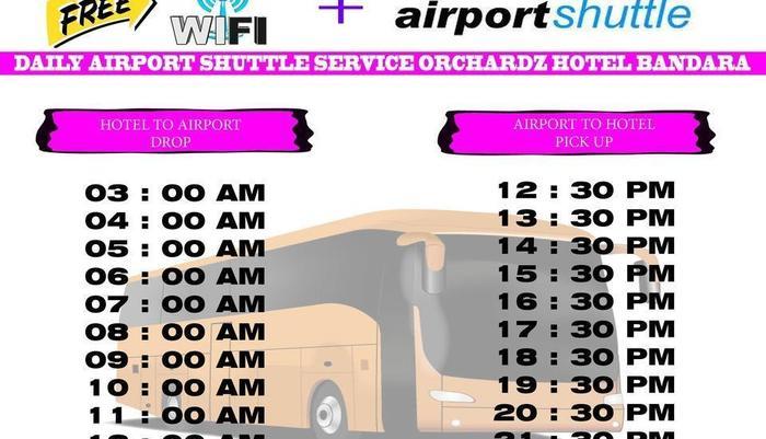Orchardz Hotel Bandara Tangerang - Antar-Jemput Scedule