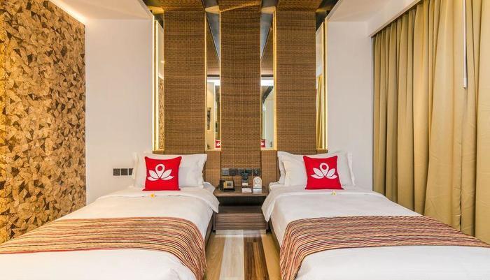 ZenRooms by pass Ngurah Rai Suwung - Tampak tempat tidur twin