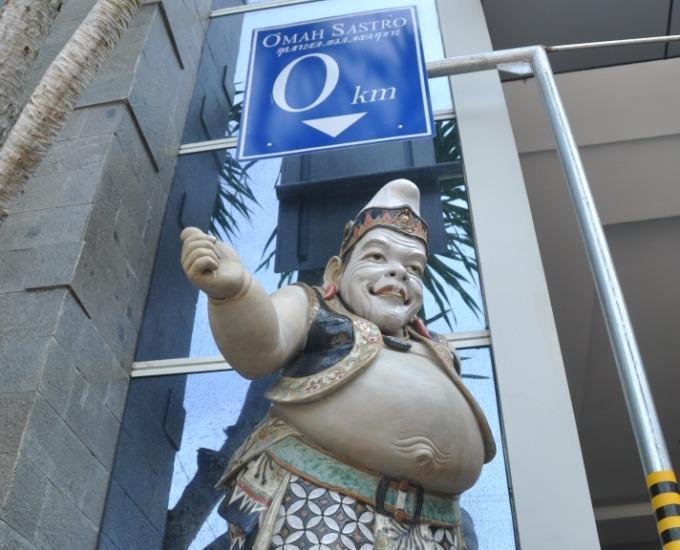 Grand Omah Sastro Yogyakarta - Patung Selamat datang