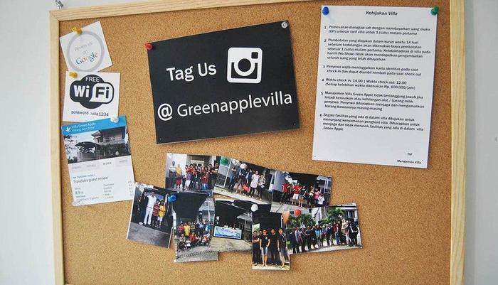 Villa Green Apple Malang - Papan pengumuman