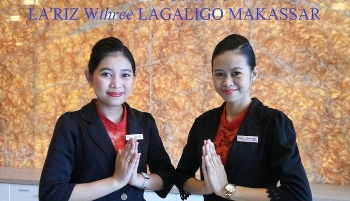 LA'RIZ Wthree Lagaligo Makassar - Resepsionis