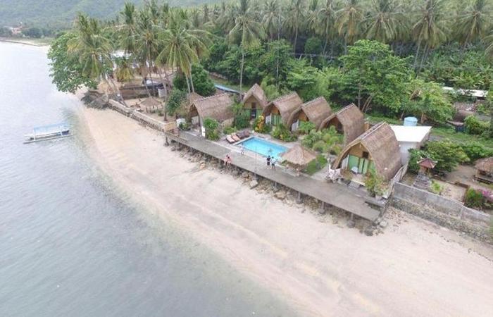 Krisna Bungalow and Restaurant Lombok - pemandangan dari atas
