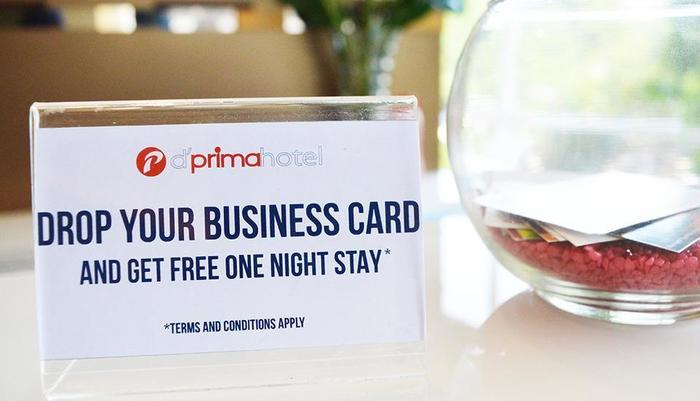 d'primahotel ITC Mangga Dua Jakarta - Drop your business card