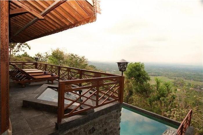 Villa Borobudur Magelang - Balcony View