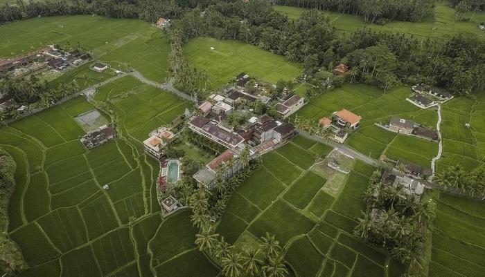Om Ham Resort & Retreat Bali - Aerial View