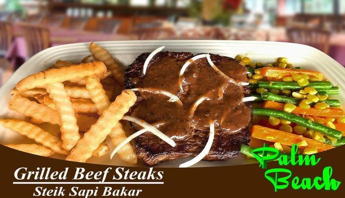 Palm Beach Hotel Kuta  - Grilled Beef Steak