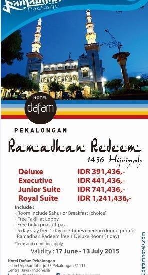 Hotel Dafam Pekalongan - Room Ramadhan Redeem