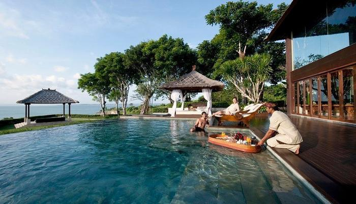 The Villas at Ayana Bali - Floating Breakfast at AYANA Villa