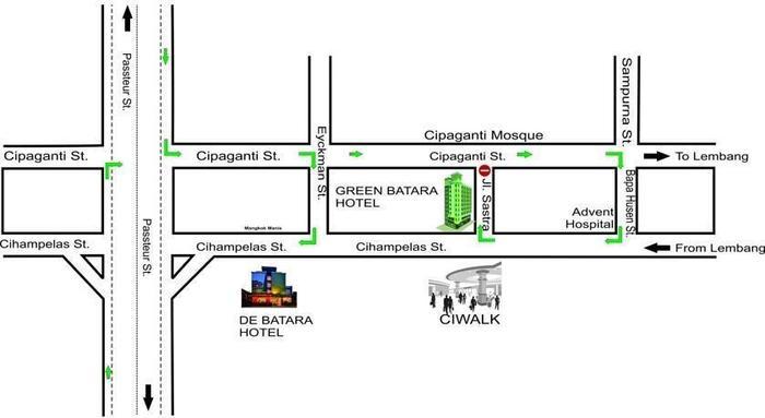 Green Batara Hotel Bandung - Peta