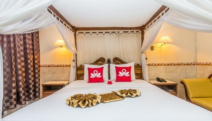 ZenRooms Kuta Jenggala Beach Bali - Tampak tempat tidur double