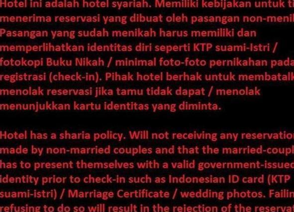 Hotel Sebelas Bandung Bandung - Hotel Policy