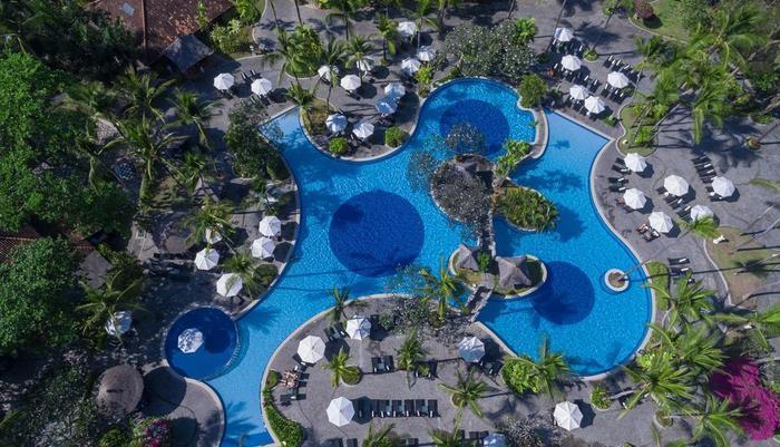 Melia Bali-Indonesia Bali - Pemandangan hotel dari udara